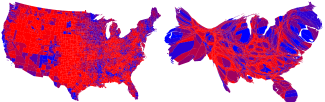 One Map and One Cart of the 2004 US Elections